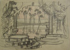 Performance. P., graphite pencil, crayon. 16,2x23.