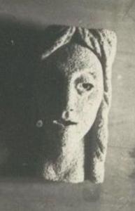 Женская голова. 1960-е. 39 см. Пемза