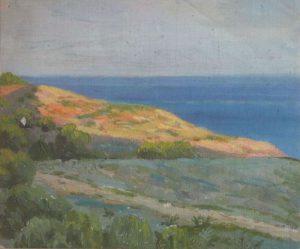 Берег моря. Крит. 1899. Картон, масло.