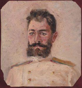 Портрет сослуживца. Крит. 1899. Картон, масло.