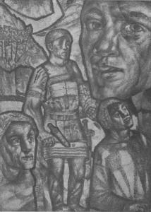 Калевала. Заставка к руне 29. 1931-1933. Опубл.: М.; Л. : Academia, 1933. Стр. 175.