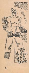 """Великан. Иллюстрация к рассказу """"Сказка о великане"""" Б. Илеша. Опубл. 1931."""