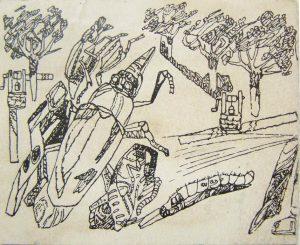 """Насекомые. К рассказу """"Два жука"""" Н. Воронина. 1932."""