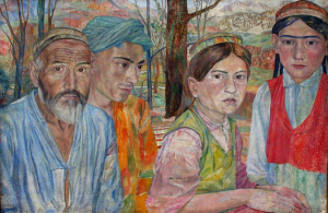 Khodjikent. 1938. Oli, canvas. 53.4x81. Pavlodar Regional Art Museum