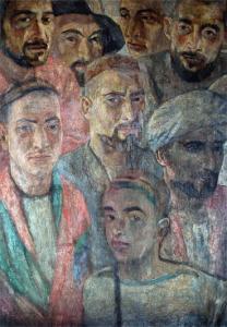 Tadzhics. 1935-1939. Oil, canvas. 79х54
