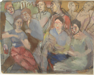 Company. 1934. Oil, canvas. 27x34.