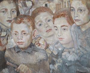 Children. 1938. Oil, plywood, 47,5 х 66.
