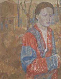 Portrait of Lidia Glebova. 1939. Oil,canvas, 68х53.