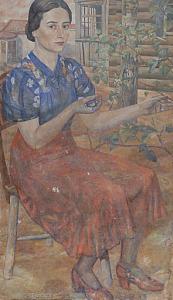 Portrait of Roza Zaltsman. 1936-1938. Oil, canvas, 68 х 53.