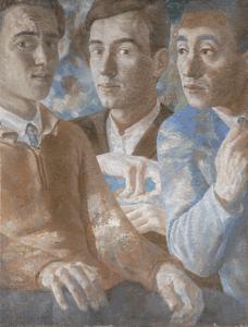 Тройной портрет. 1932. Холст, масло. 57х43.