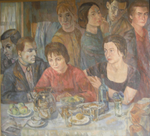 Evening meal. 1939-1953. Oil, canvas. 110x125.
