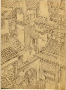Alma-Ata-I. A Dream. 1943. P., graphite pencil. 27x20.