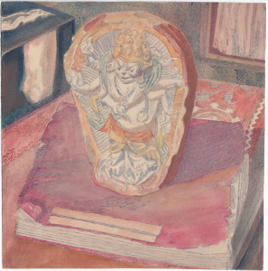 Still life with burkhan. 1943. P., watercolor, graphite pencil 20x19.