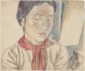 Portrait of Rosa Zaltzman. 1945. P., graphite pencil, watercolor. 31x37.