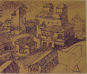 City. 1936-1937. P., ink, pen.
