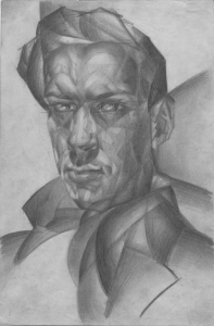 Self-portrait. 1929. P., pencil. 35x27.