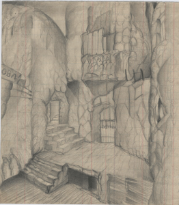 Houses. 1929. P., pencil. 18х11.