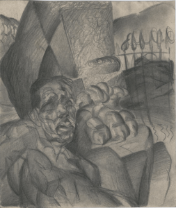 Sleeping One. 1929. Paper, pencil. 22x18.