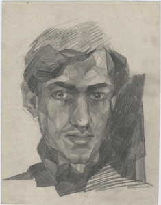 Self-portrait. 1929. P., pencil. 19x15.
