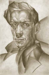 Self-portrait. 1929-1930. P., pencil. 26х18.
