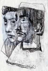 Someone 2. 1950's. P., graphite pencil. 14.5x10.5.