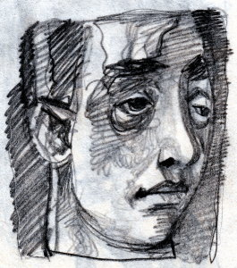 Someone-6 (turn of Someone-2). 1950's. P., graphite pencil. 14.5x10.5.