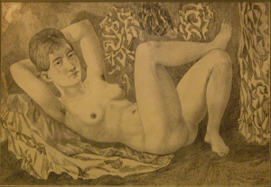 Знакомая девушка. 1960-е. Б., тушь, перо.