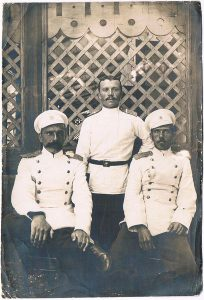 Officers of the 59th Lublin Regiment. Yakov Zaltsman - on the right. 1903.