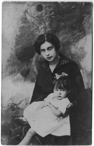 Natalia Zaltsman with daughter. France. 1920's.