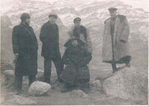 Rash-Kala, Pamir. December 1938. Zaltsman - on the left.