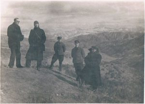 Pamir, Osh-Gulcha road. November 1938. Zaltsman - second from left.