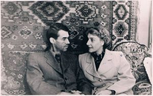 Павел Зальцман и Ирина Переселенкова. Алма-Ата. 1950-е.