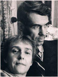Павел Зальцман и Ирина Переселенкова. Алма-Ата. 1957.