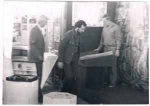 "At the film studio ""Kazakhfilm"". 1979. Pavel Zaltsman - on the left."