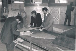 "At the film studio ""Kazakhfilm"". 1979. Pavel Zaltsman - second from the left."