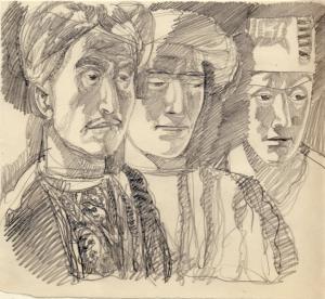 Средняя Азия. 1962. Б., графитный кар. 18,5х21,5.