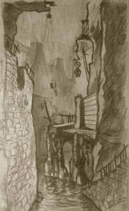 Curve street. 1929. P., pencil.
