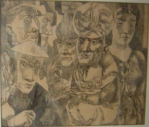 Рембрандт I. 1963. Б., тушь, перо.