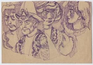 The Kazakhs. 1967. P., ink. 20x29.