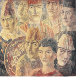 Warriors. 1967. P., watercolor.