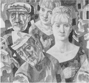 Дамы и короли (Четыре роли). 1969. Б., тушь, перо. 61,5х66,5.