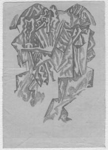 Crystalline Forms. 1960's. P., graphite pencil.