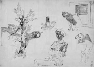 Habitat. 1934. P., ink. 27х37.