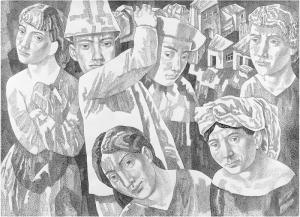 Дорога. 1983. Б., тушь, перо. 63х87,5.