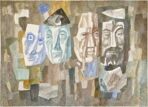 Masks. 1984. P., watercolor. 51x71.