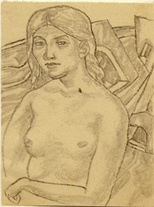 In the Sunshine. 1938. P., pencil. 13,2х10.