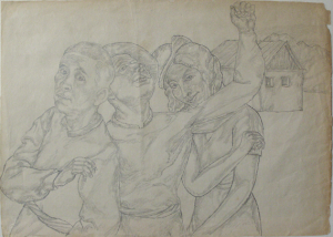Beginning of a Path. 1938. P., pencil. 22x30.