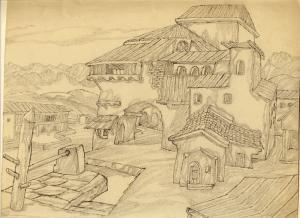 Khorog. 1938. P., pencil.