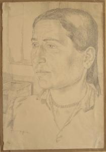 Khodzhikent. Nina. 1939. P., pencil. 31х22.