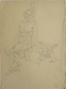 Nu 1. 1939. P., pencil. 37х28.